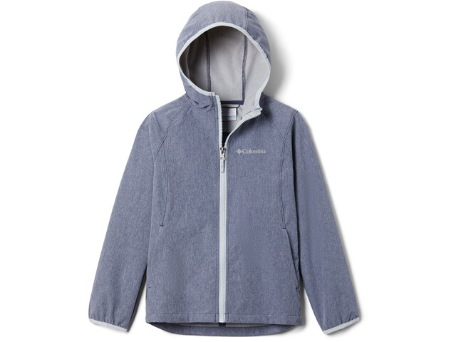 Columbia Rocky Range Veste Softshell Fille, nocturnal heather/cirrus grey zip and binding